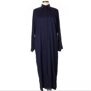 Vintage Alaia Dress Longsleeve Shirtdress Blue
